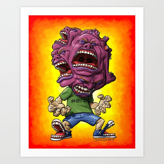 Not Enough Mouths To Scream It Out Art Print