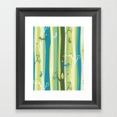 Woodland Stripe Framed Art Print