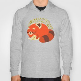 Sleeping Red Panda and Bunny / Cute Animals Hoody