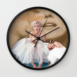 Marilyn Portrait Collage 3 Wall Clock