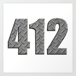 Pittsburgh 412 Steel Plate Art Print