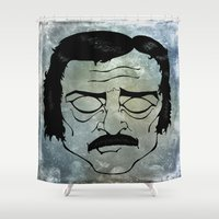 poe Shower Curtains featuring Poe by Art by Ash