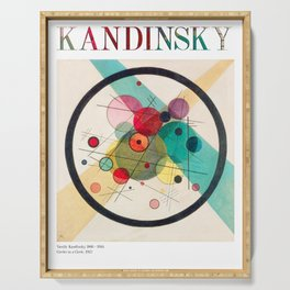 Kandinsky - Circles in a Circle (1923) - Abstract Art Classic - [With Details] Serving Tray