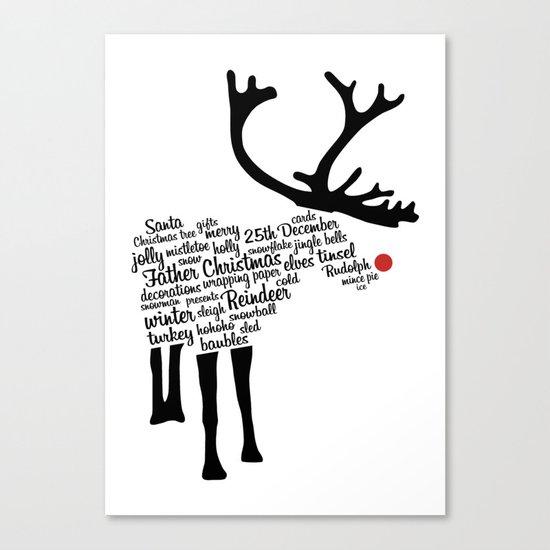 Rudolph Typography Canvas Print