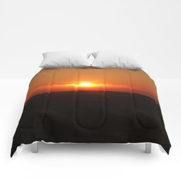 Sunset in Wiltshire England Comforters