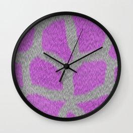 Giraffe in Pink Wall Clock