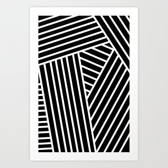 Opical Stripes 2 Art Print