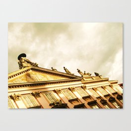 Baroque Sky and Building Canvas Print