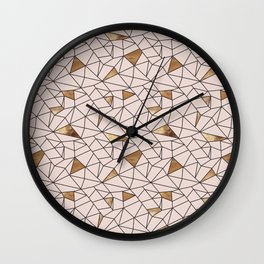 Modern abstract blush pink faux gold geometrical Wall Clock
