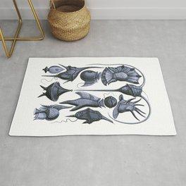 Ernst Haeckel Peridinea Plankton Periwinkle Rug