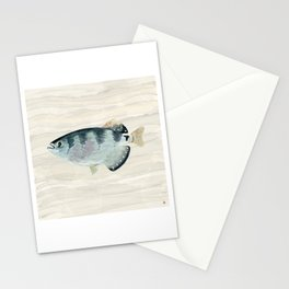 Patriot Fish Swimming in Troubled Waters Stationery Cards