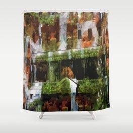 Waterfalls in the Clocktower Shower Curtain