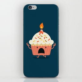 Cupcake on fire iPhone Skin