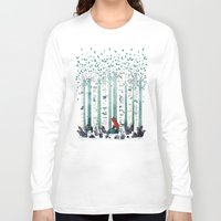 birch Long Sleeve T-shirts featuring The Birches by littleclyde