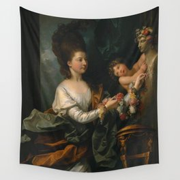 Benjamin West - Lady Beauchamp-Proctor Wall Tapestry