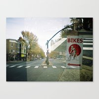 bikes Canvas Prints featuring bikes... by phoebe ford reid
