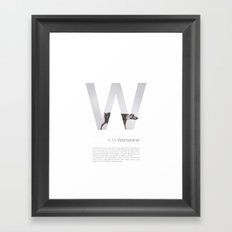 W is for Weimaraner Framed Art Print