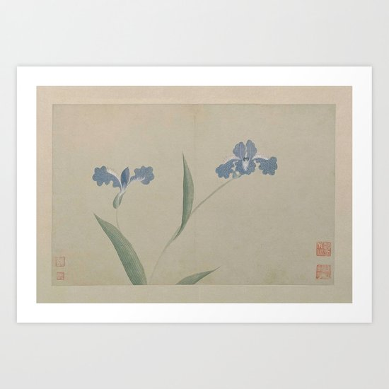 Vintage Chinese Ink and Brush Painting and Calligraphy by theyoungdesigns