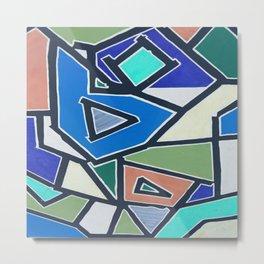 shapes of blue Metal Print