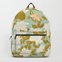 Gardenias on Green Backpack