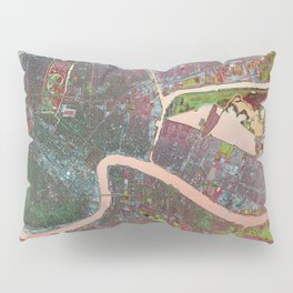 A Map of Vibrant New Orleans Pillow Sham