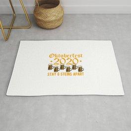 Oktoberfest 2020 Stay 6 Steins Apart Rug