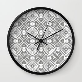 Monochrome Grays. Wall Clock