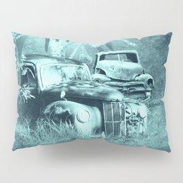 cars and butterflies in moonlight Pillow Sham