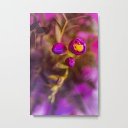 Purple Flowers of Spring Metal Print