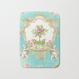 French Baroque Patisserie Tea Bath Mat