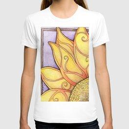 Art Deco Sunflower T-shirt