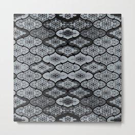 Teardrops in Grey (Larger) Metal Print
