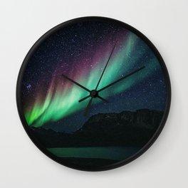 Aurora / Northern Lights II Wall Clock