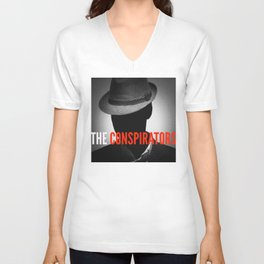 The Conspirators Podcast Show Art Unisex V-Neck