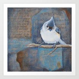 A bird is sitting Art Print