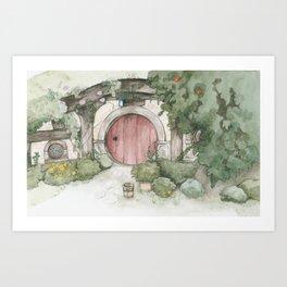Hobbithole 3. Art Print
