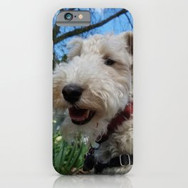 Cheerful Wire Fox Terrier iPhone Case