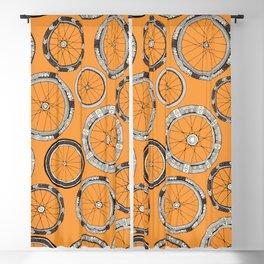 bike wheels amber Blackout Curtain