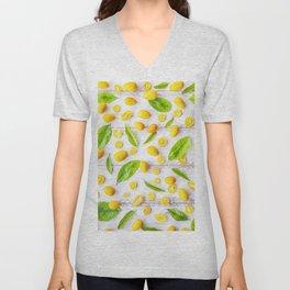Fruits and leaves pattern (22) Unisex V-Neck