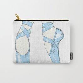 Ballet Pumps: Blue Carry-All Pouch