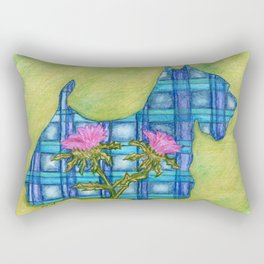 Scottish Terrier Silhouette Rectangular Pillow