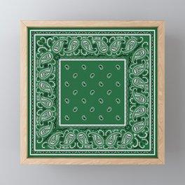 Classic Green Bandana Framed Mini Art Print
