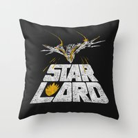 star lord Throw Pillows featuring Star-Lord by MeleeNinja