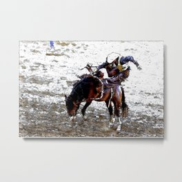 The Dismount   -   Rodeo Cowboy Metal Print