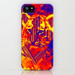 Aztec lion cub iPhone Case