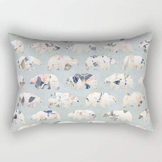 Psychedelic Bears Rectangular Pillow