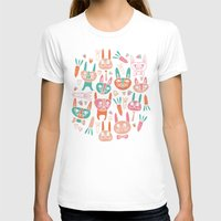 bunnies T-shirts featuring Bunnies by Olya Yang