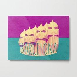 Barcelona Gaudi's Paradise Metal Print