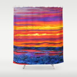 JONES BEACH AT SUNRISE Shower Curtain