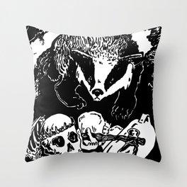 Badger Hoo Throw Pillow